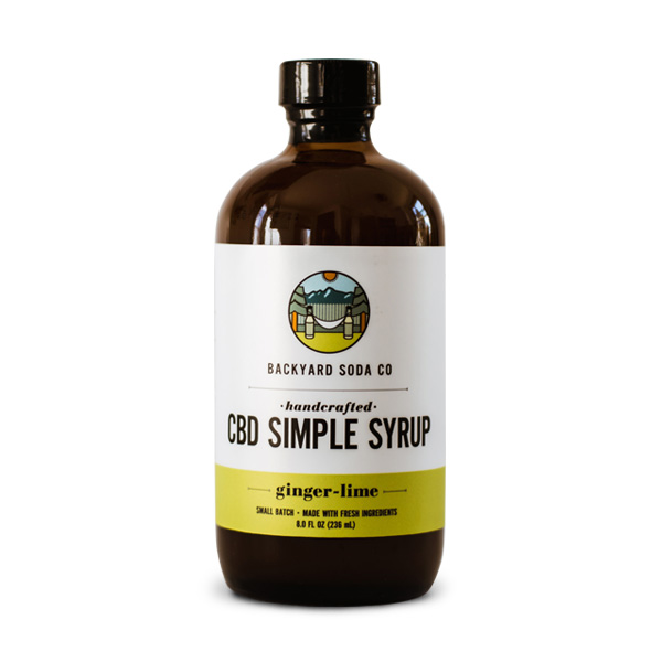 Ginger Lime CBD Simple Syrup