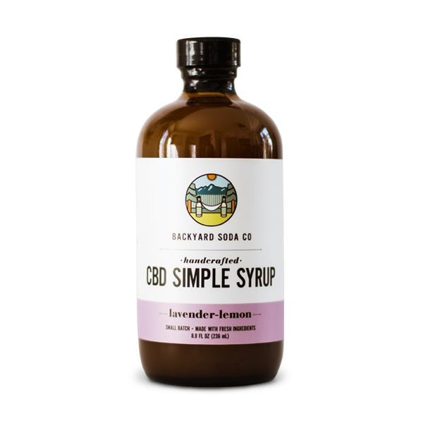 Lavender Lemon CBD Simple Syrup