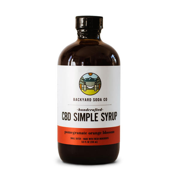 Pomegranate CBD Simple Syrup