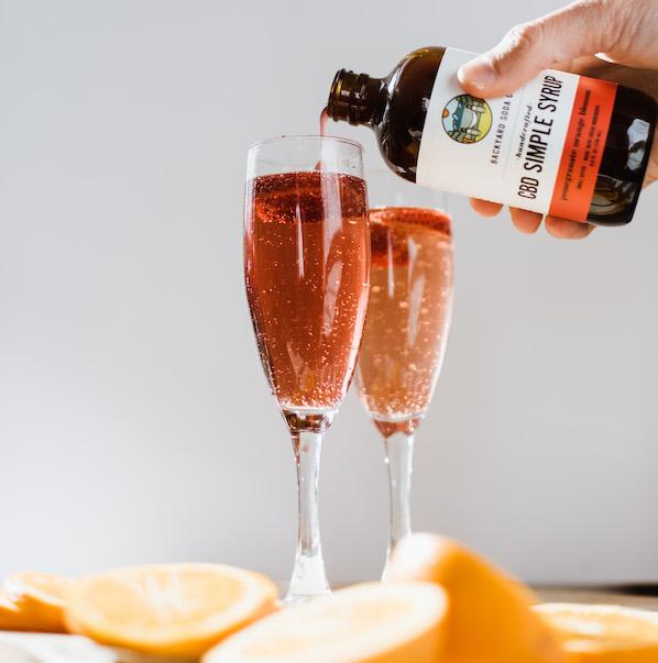 Pomegranate CBD Simple Syrup