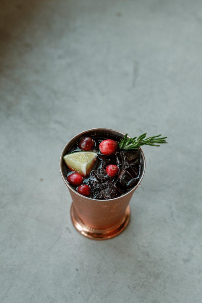 Cranberry Rosemary Mule
