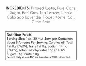 Earl Grey Lavender Syrup